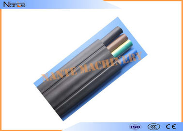 Mixed PVC Flat Electric Cable Copper Strand Flat Power Cable Black Or Grey